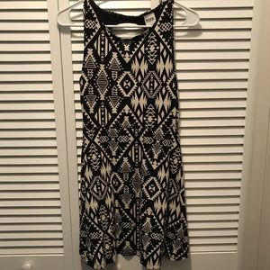 Black and Cream Aztec print dress